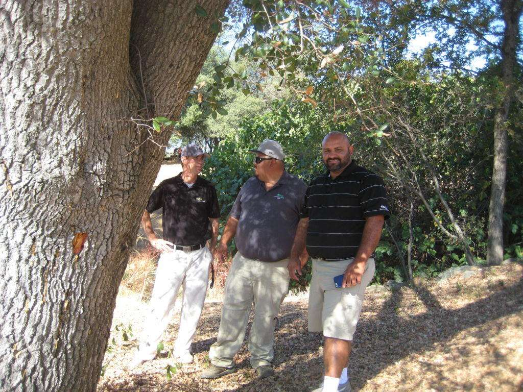 Allan Ramorini, with Jesus Leyva, (Spray Technician for Greenhorn Creek), and Hulises Avila, (the Golf Course Superintendent). 28 September 2016