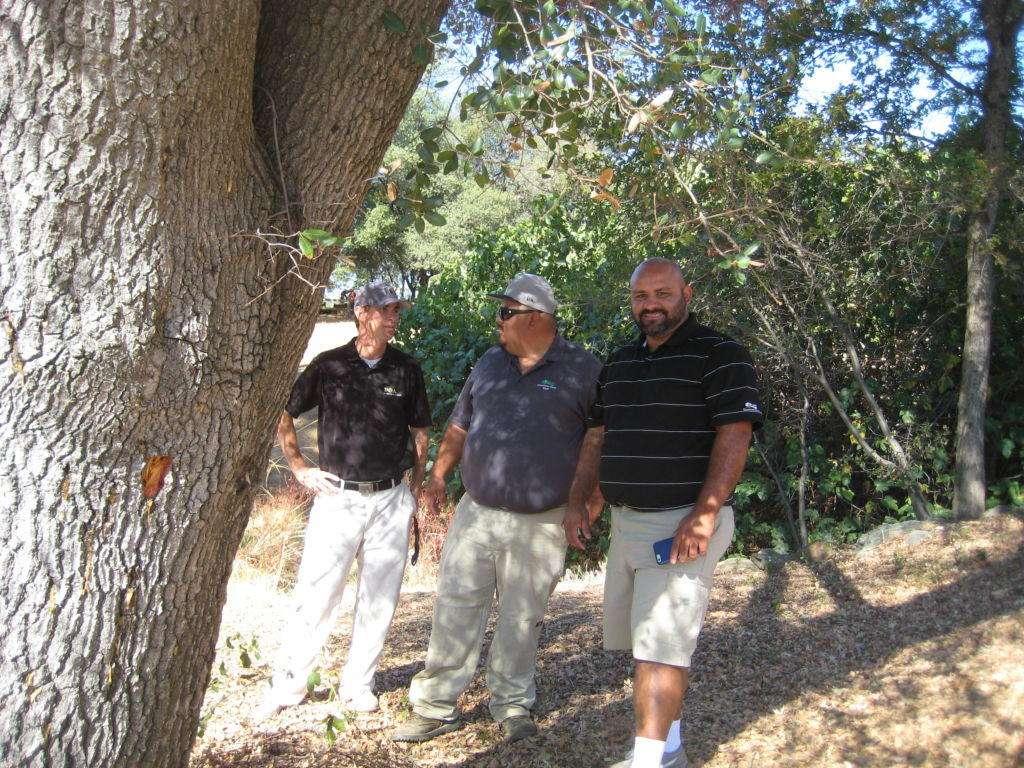 Allan Ramorini, with Jesus Leyva, (Spray Technician for Greenhorn Creek), and Hulises Avila, (the Golf Course Superintendent). 28 September 2016